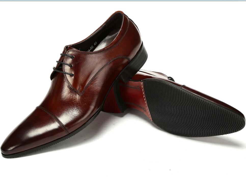 Здесь можно купить  High quality 2014 brand Unique black/brown tan brand genuine leather men dress shoes wedding bridegroom formal shoes party  Обувь