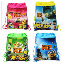 Children school bag cartoon backpacks child mochila infantil kid bag little yellow man backpacks school bags drawstring &88250