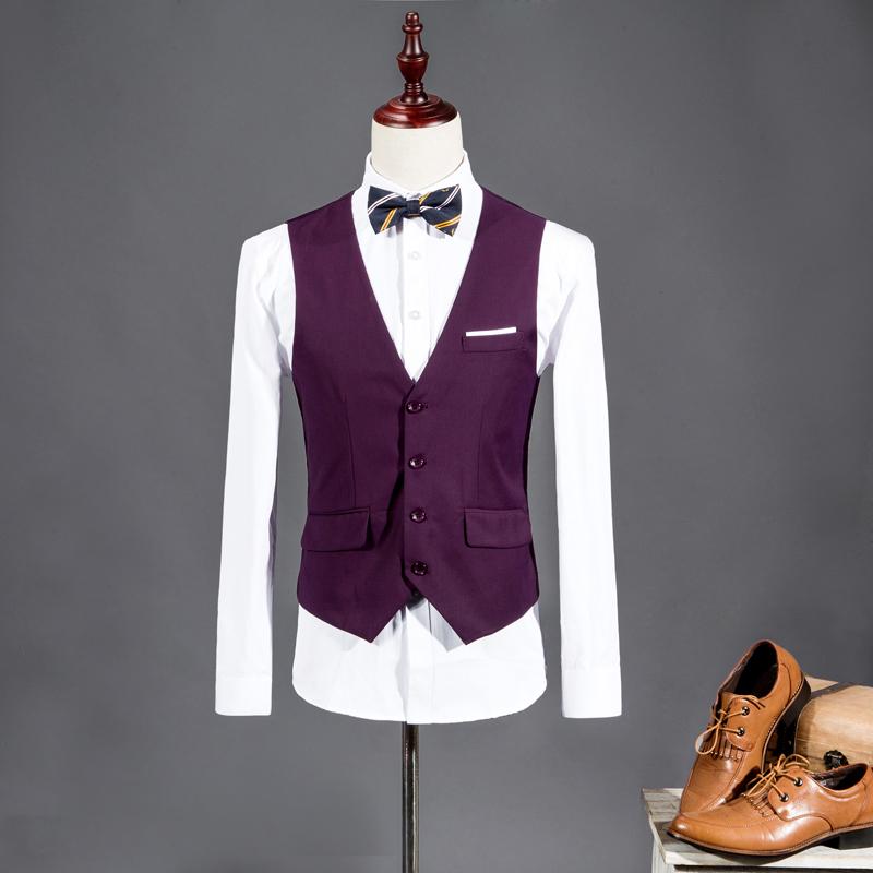 2015 New Men Suit Vest V-neck Slim Fit Fashion Men Vest Casual Solid Color Male Blazer Business Vest 8 Color Size:M-3XL WS847(China (Mainland))