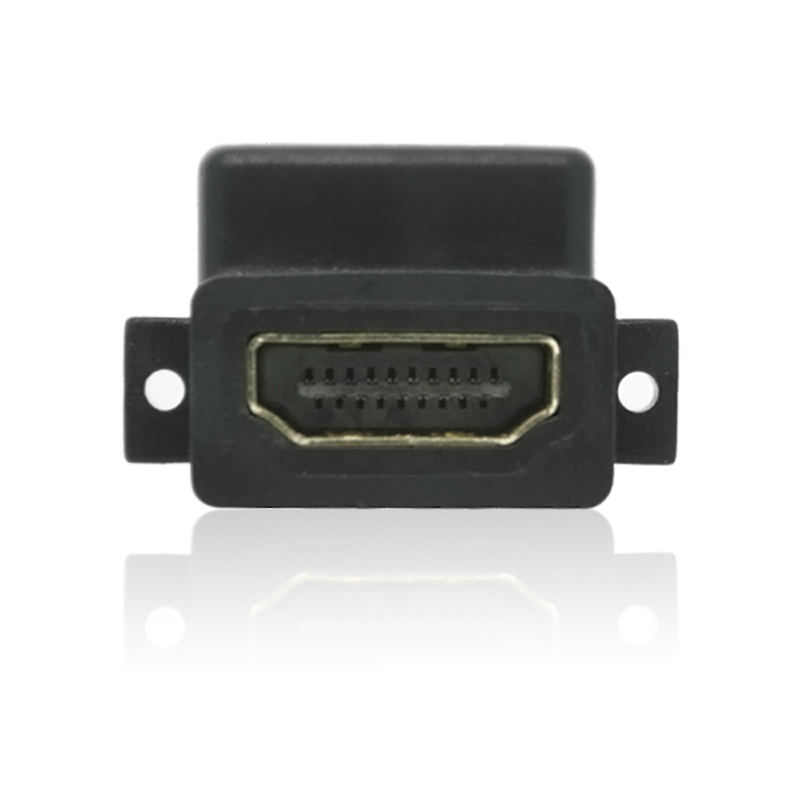 Wholesale Lot of 50 HDMI Female to Female Gold Plated HDMI Coupler Adapter 90 Degree Connector Free Shipping(China (Mainland))