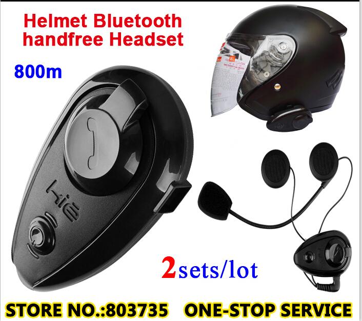 2sets/Lot Waterproof Bluetooth Intercom Moto Interphone Motor Talkie Headsets(China (Mainland))