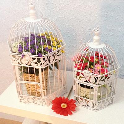Decorative bird cages weddings handmade antique gold metal - Cage a oiseaux decorative ...