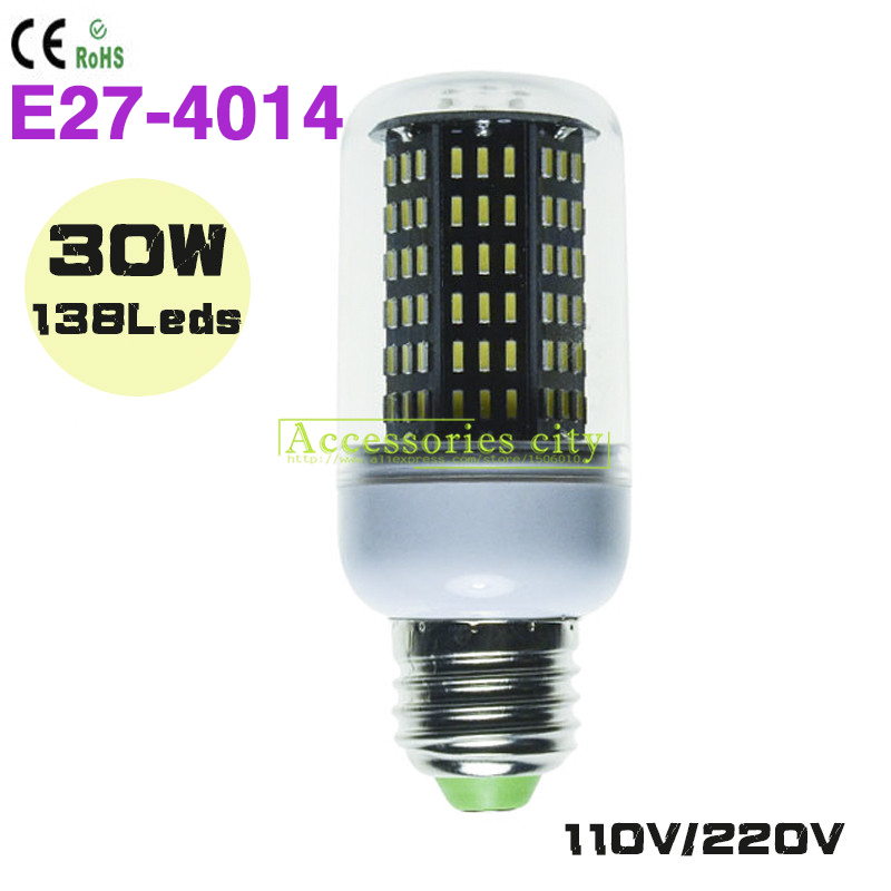 Lowest Price 1pc Lot E27 Led Lighting Smd4014 110v 220v Led Corn Bulb E27 Lamp 30w 138led Warm