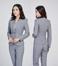 Plus Size Formal Pantsuits Uniform Design Business Suits Jackets And Pants Professional Office Ladies Work Suits Women Blazers