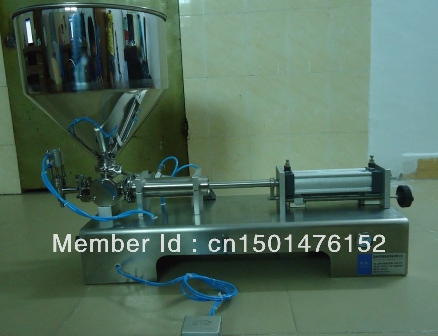 Pneumatic Liquid Paste filling machine shampoo,cosmetic,juice,toothpaste, stainless steel, single head Cylinder - Lyly L's store