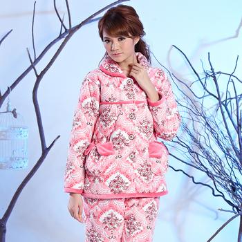 2012 coral fleece cotton-padded thickening noble elegant female sleep set
