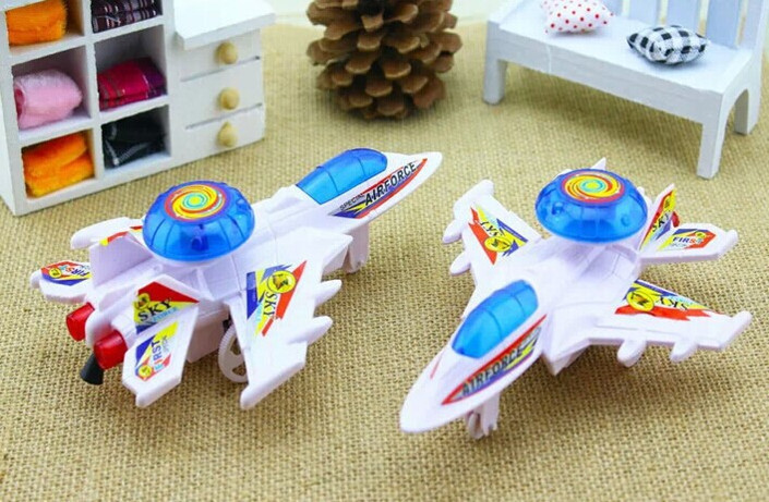 New novel appearance is very cool children toy plane, clockwork imitate flight light puzzle toys can improve children's ability(China (Mainland))