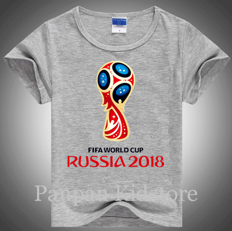 New design Russian Football Fans t shirt cotton short sleeve unisex children t shirts girl t shirt boys clothes 2-12age(China (Mainland))