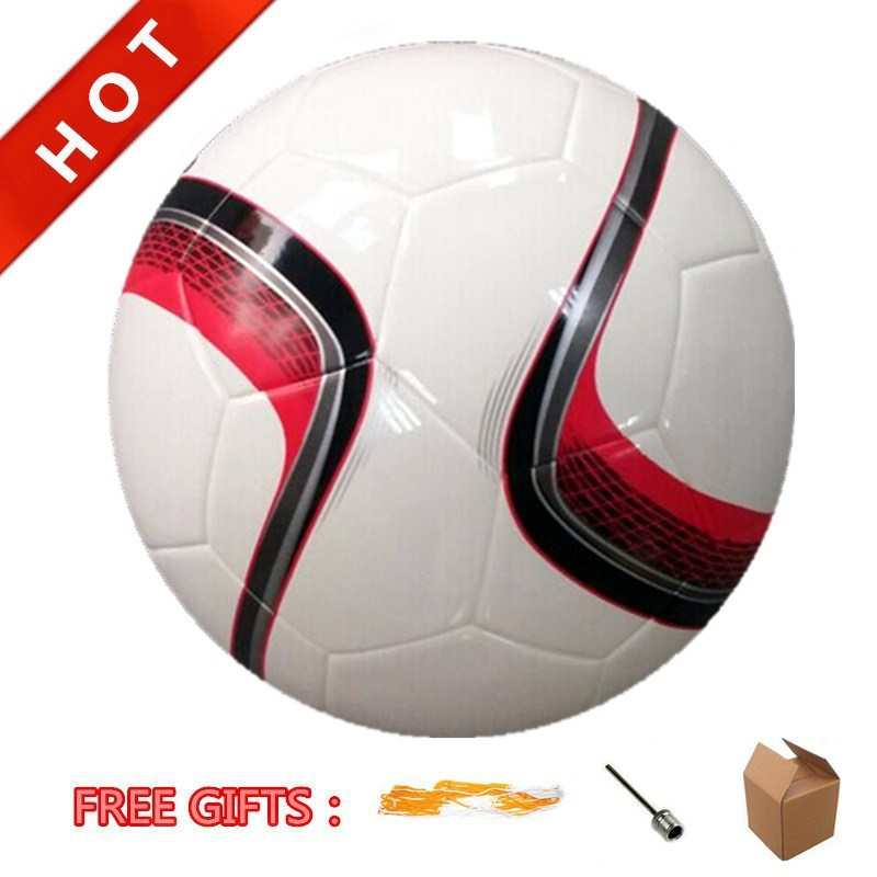 High Quality Soft ShinyTPU Laminated Soccer Ball Official Size 5# Seamless Football Ball Futebol/Futbol Winding Butyl Bladder(China (Mainland))