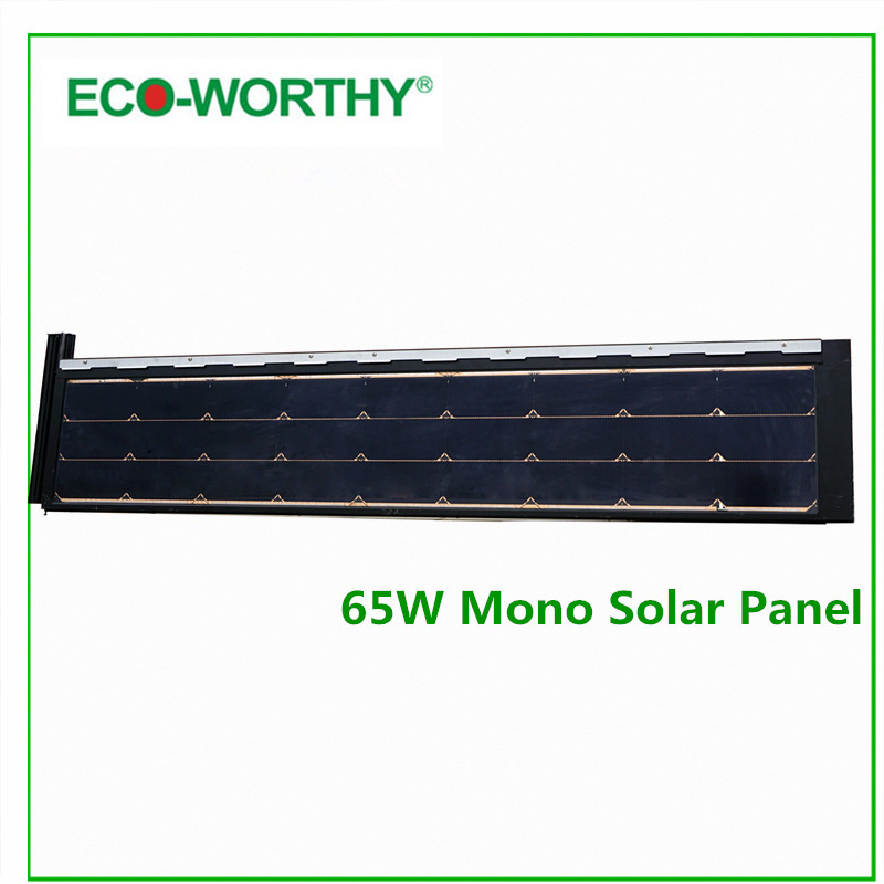 ECO-WORTHY 130W Watt 12V Monocrystalline Mono Solar Panel 2pcs 65W Solar Panels 12V Solar Panel for Home Boat<br><br>Aliexpress