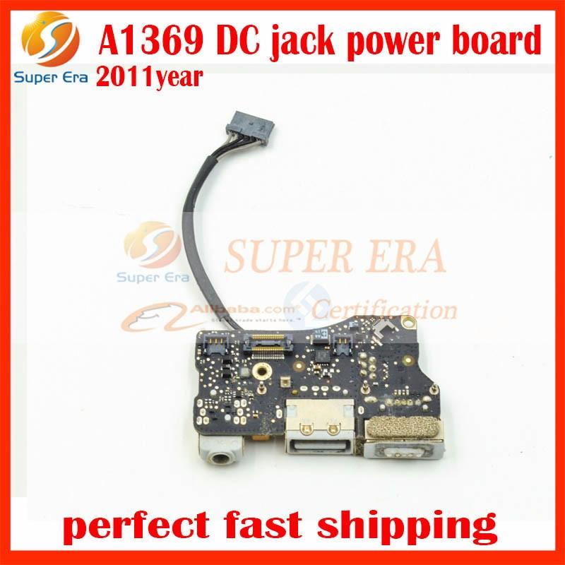 Genuine 2011 Year 820-3057-A for MacBook Air 13.3″ A1369 DC I/O Power Board USB Port Audio Jack MC965 MC508 EMC 2469