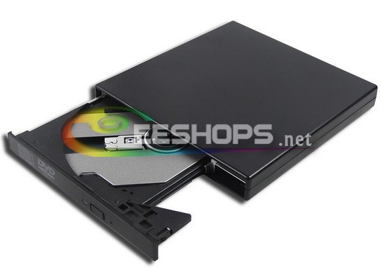 """External USB DVD Player 8X DVD-ROM Combo for Dell Inspiron Mini 10 11 Series 11"""" Touch Screen Netbook Tray Optical Drive Case(Hong Kong)"""