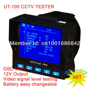 """3.5"""" TFT LCD Security Monitor CCTV Tester Camera Tester 12V Output  Video level test  battery changeable  Free shipping"""