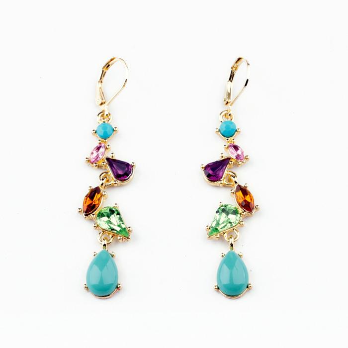 Гаджет  New Styles 2013 Fashion Jewelry Elegant Multicolor Water Drop Earrings None Ювелирные изделия и часы