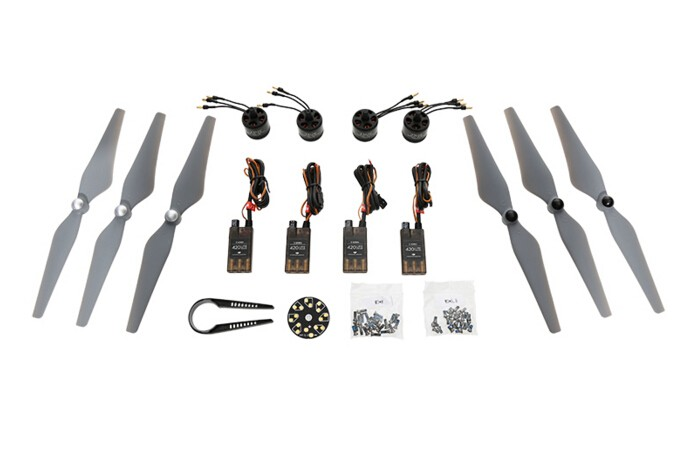 Dji e305 UAV kit with 4 pcs motor / esc and 3 pairs props for e305 dji accessories 2015 Free Shipping