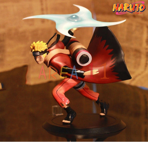 Free Shipping Japanese Anime Naruto Uzumaki Naruto Immortal mode 16cm PVC Action Figure Collection Model Toy 16cm(China (Mainland))