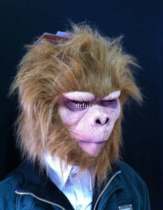 Funny Animal Monkey Creepy Monster Realistic Latex Party Masks Halloween Mask - Fashion Supplies store
