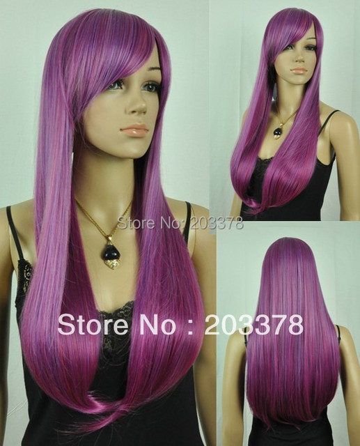Capless Fashion Color Straight Costume Party synthetic Wig 10pcs/lot mix order free shipping