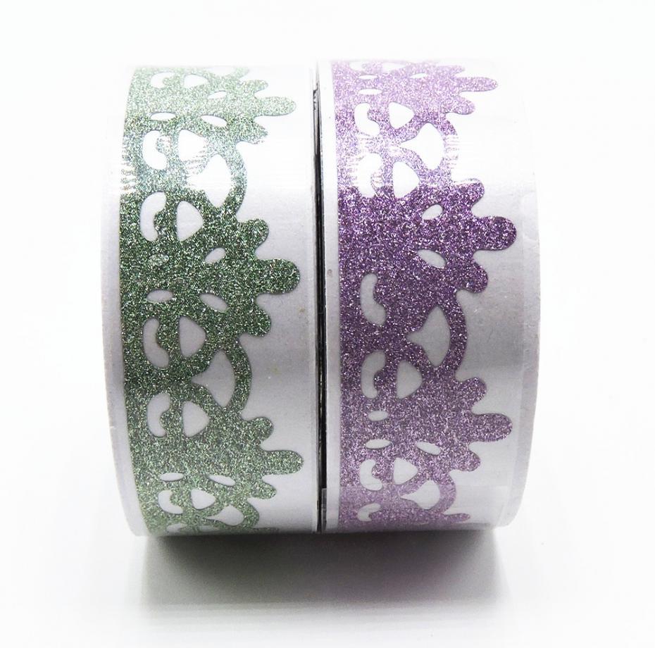 2016 New! Glitter Lace Washi Tape Scrapbooking Decorative Tool DIY Kawaii Japanese Stationery Cinta Crafts Deco Paper Craft<br><br>Aliexpress