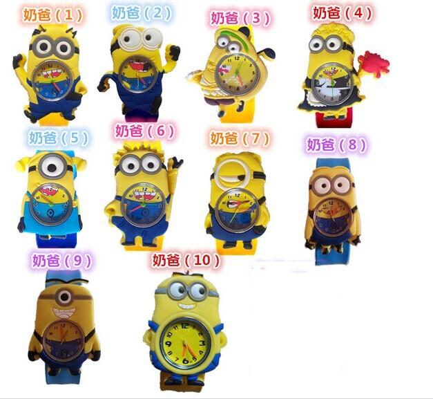 NEW Cartoon 3D despicable 2 minion/watch kids children cartoon slap watches christmas gift - kiven &watch shop store