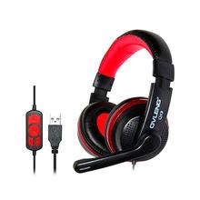 Casque casque écouteurs USB stéréo filaire Head téléphone avec Microphone pour Computer Game téléphones et Tablet PC casque