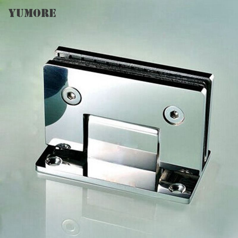 DHL Free Shipping Frameless Shower Door Hinges Wall to Glass Offset Square Glass Hinge - Polished Chrome 30psc/lot(China (Mainland))