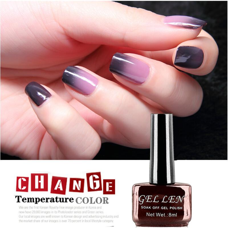Гаджет  Gel Len Chameleon Temperature/Mood Color Changing UV LED Soak Off Gel Polish Halloween Witch nail polish None Красота и здоровье