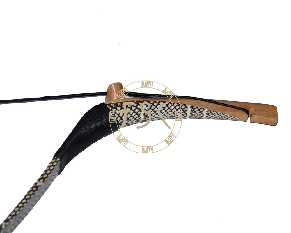 35lbs White Cobra Snakeskin recurve bow handmade wooden shooting long bow and arrow archery hunting Sport