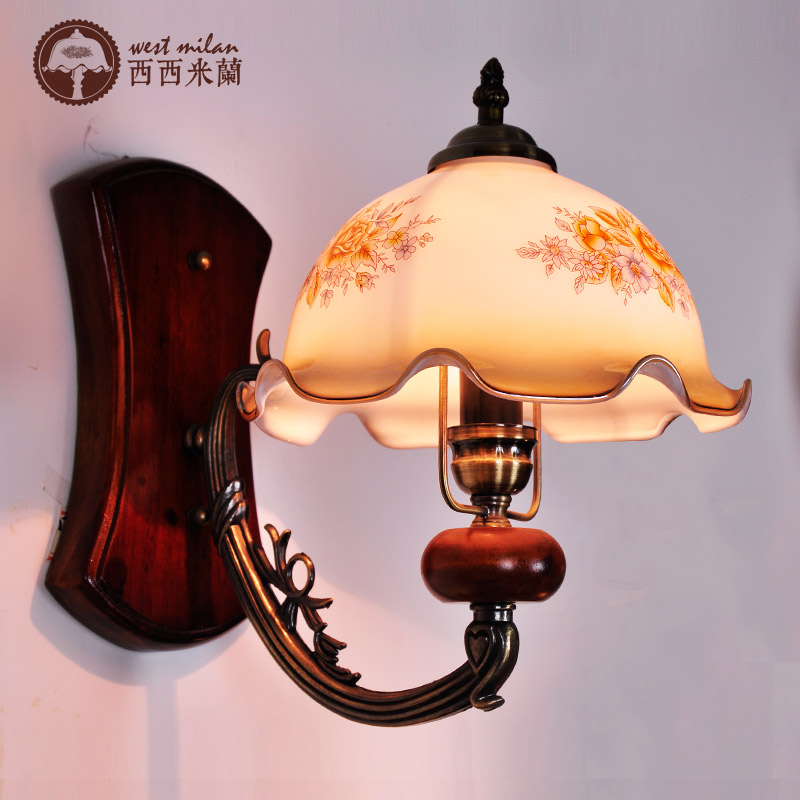 Vintage Style Bedroom Wall Lights : Aliexpress.com : Buy Fashion bedroom wall lamp rustic vintage solid wood bedside lamp balcony ...