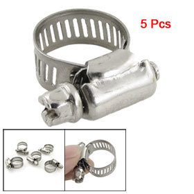 Гаджет  100 Pcs Silver Tone 10-16mm Adjustable Worm Drive Hose Clamps Free Shipping None Аппаратные средства