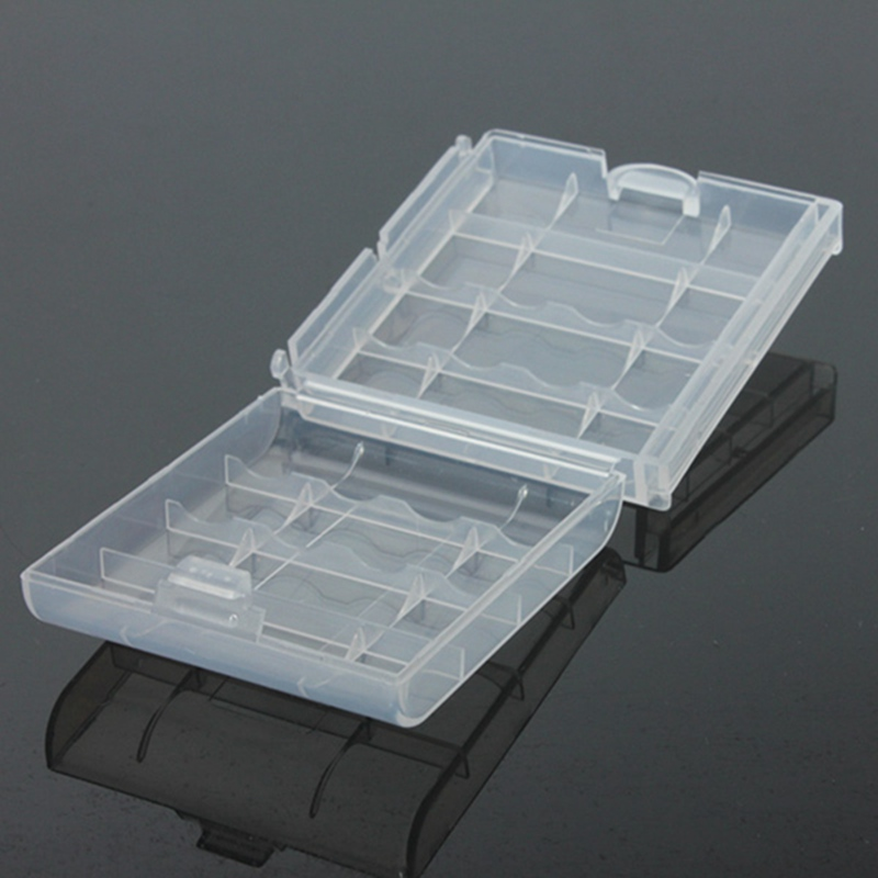 New Arrival Special Offer Best Price Clear Plastic Battery Box Storage Case Cover Holder for 4x AA AAA Battery(China (Mainland))