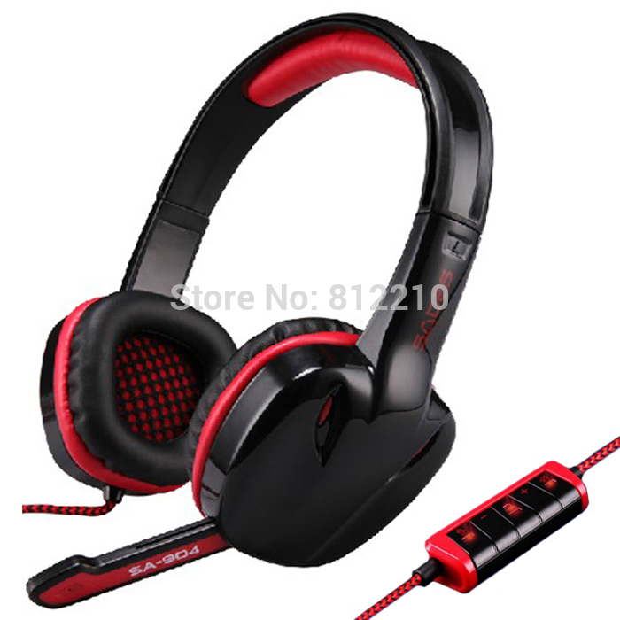 FreeShipping SADES SA-904 USB 7.1CH Headband Gaming Headset with Microphone built-in Audio Card Chipset Wired Game Headphone<br><br>Aliexpress