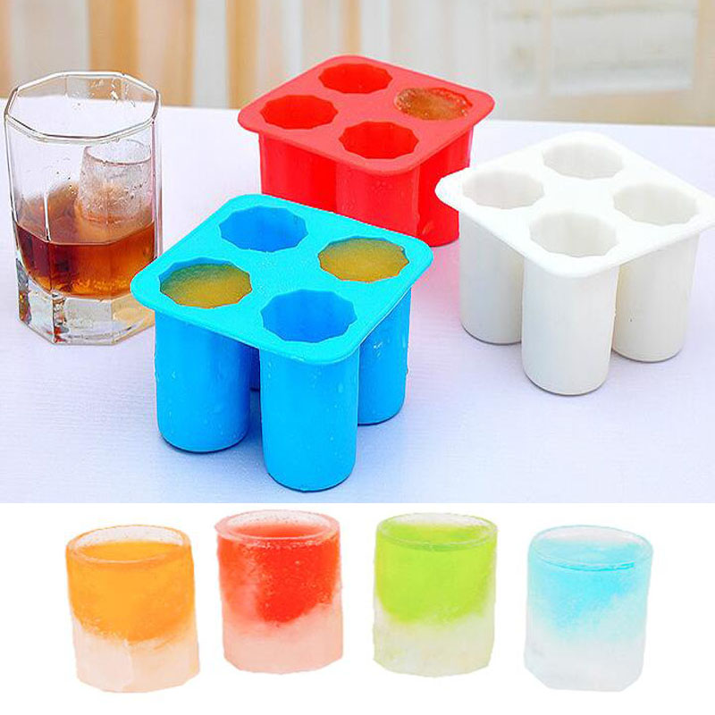 New Arrival Ice Cube Tray Mold Makes Shot Glasses Ice Mould Ice cup Silicone Mold Summer Drinking Tool(China (Mainland))