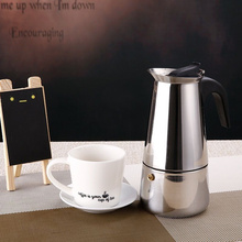 Stainless Steel Percolator Stovetop Espresso Coffee Maker Classic Moka Coffee Pot 100ML with Filter Home Office Supplies(China (Mainland))