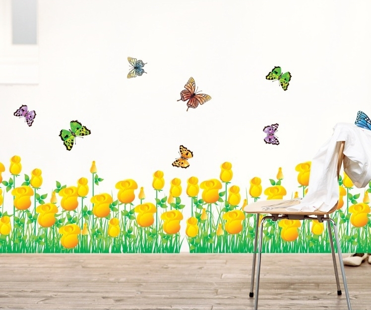 tulip border wall stickers - photo #4