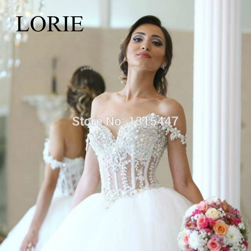 New designer 2016 white tulle corset wedding dresses ball for See through corset top wedding dress
