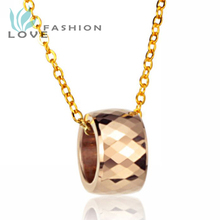 Wholesale 2015 New Hot Sale Fashion Jewelry Rose Gold Chain Women's Tungsten Steel 18k Gold Plated Necklaces For Women Wx718mk(China (Mainland))