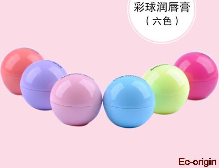 New Brand Makeup Natural Plant Sphere Lip Pomade Fruit Lip Balm Lipstick Organic Lip Ball Makeup Lipstick Gloss Free Shipping(China (Mainland))