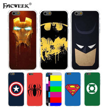 Case Apple iPhone 6 6S 4.7 inch Avengers Batman Superman Iron Man Phone Cases iPhone6 Shell Soft Silicone Cover Fundas - FACWEEK officialSale Store store