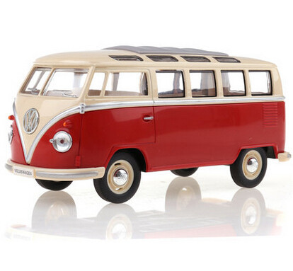 KINGSMART 1962 Volkswagen 1:24 Scale Diecast Bus Toys Onibus, Door Openable Model Car Toy For Collection / Gift(China (Mainland))