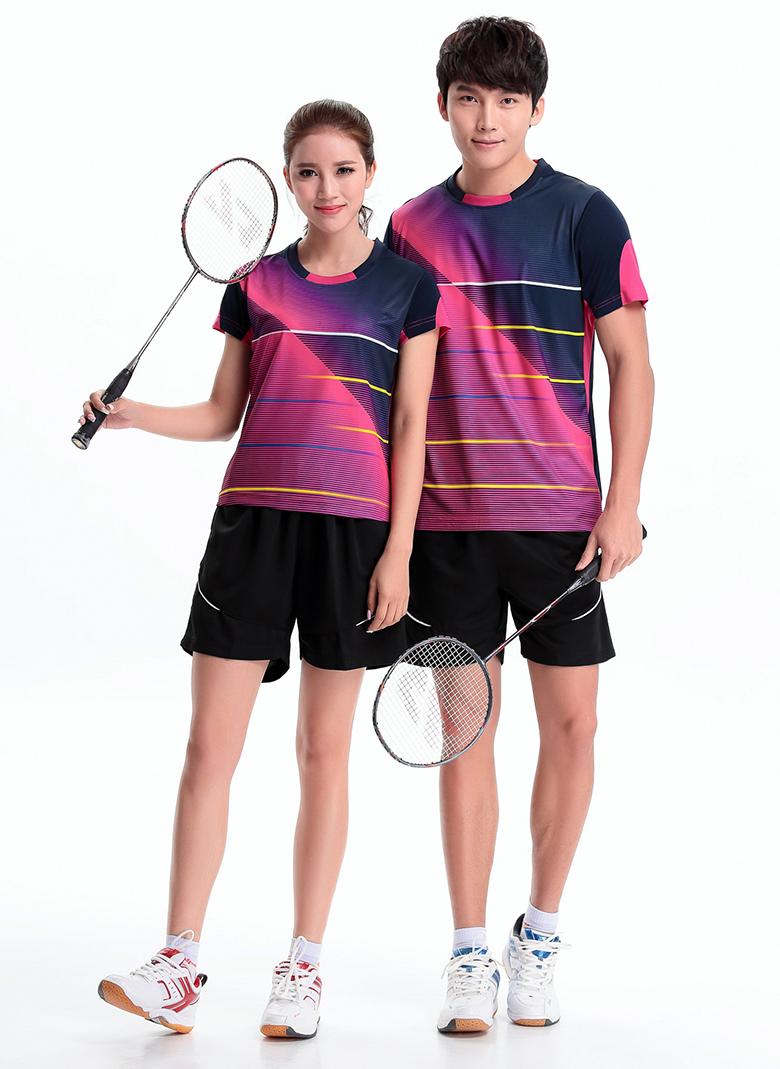 2016 Badminton KOREA TEAM SPORTSWEAR , Badminton sports T-Shirt , badminton shirt Men / Women's , Tennis sports 2101 one set(China (Mainland))