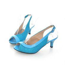 Plus Size 30-46 New 2016 Summer Fashion Women Sandal Casual Medium Heels Flip Flops Women Open Summer Style Shoes AA302(China (Mainland))