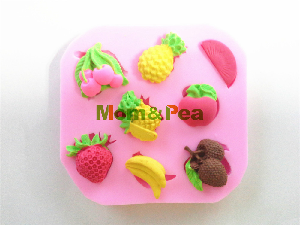 Fruit Shaped Cake Decoration : Mom&Pea 0480 Free Shipping Fruits Shaped Silicone Mold ...