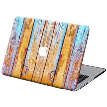 NEW Wood Grain Colorful Matte Case Cover For Apple macbook Air Pro Retina 11 12 13 15 laptop bag For Mac book 13.3 inch(China (Mainland))