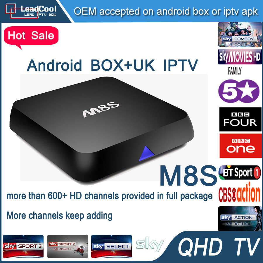 Cheapest Android Tv Box M8S For Smart Tv 4k Tv Include 1 Year Qhdtv Iptv Account Bein Sport Canal No Youtube Youporn Iptv