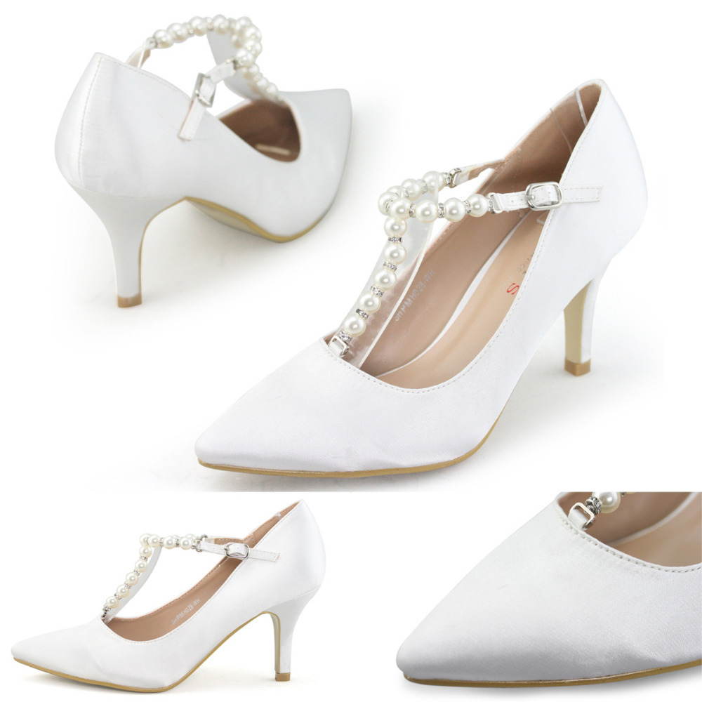 White Shoes Women Heels - Is Heel