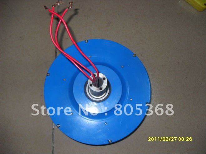 300W 24V Vertical permanent magnet wind turbine Generator No iron disc wind generators(China (Mainland))