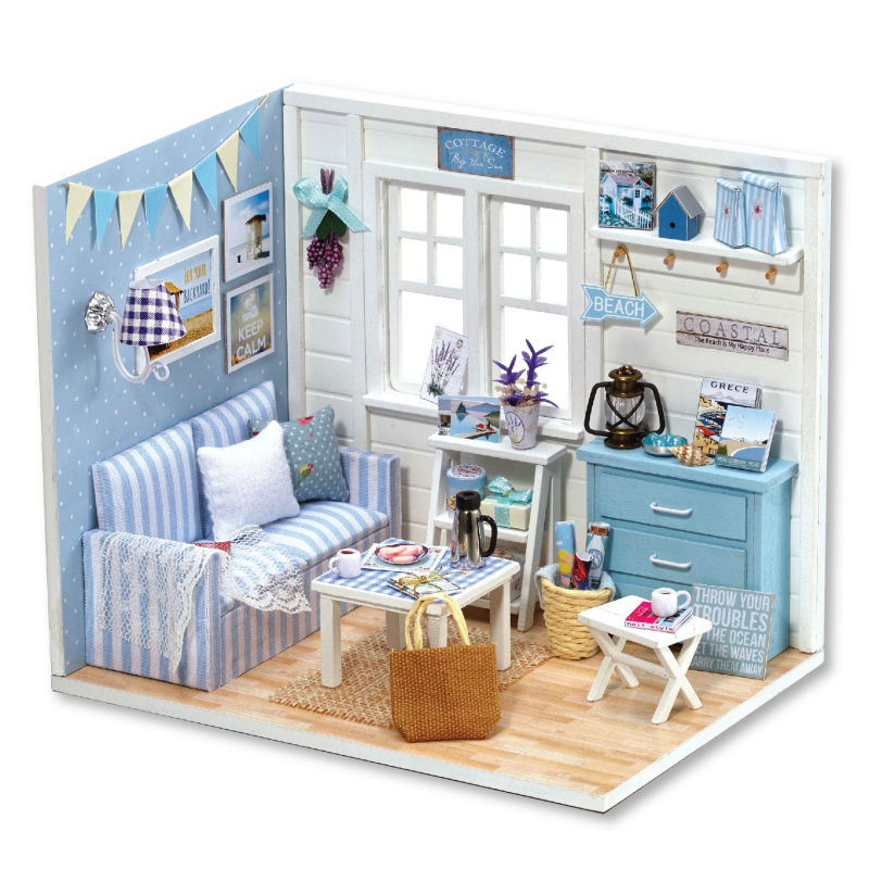 Doll House Diy Miniatura Wooden Dollhouses Furniture Miniature Dollhouse 3D Puzzles Toy Model Kits Toys Birthday Gifts(China (Mainland))