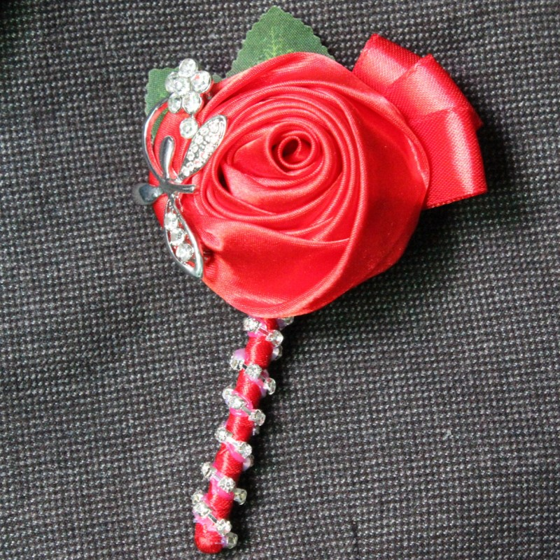 23 Color to Pick Up Luxury Wedding Flower Groom Boutonniere Best Man Groomsman Corsage Silk Rose Party Prom Decoration(China (Mainland))