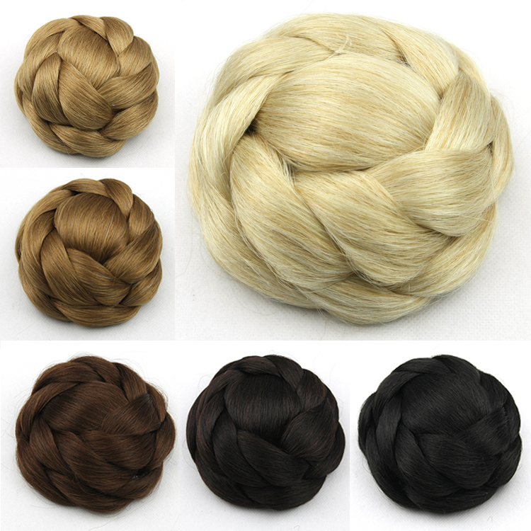 80g Womens Fashion Clip In Big Hair Bun Extensions Synthetic